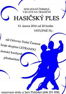 plakát - ples 2016