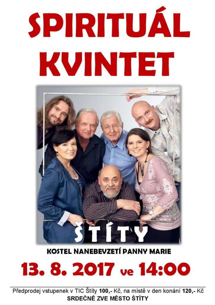 Spirituál kvintet 2017 plakát